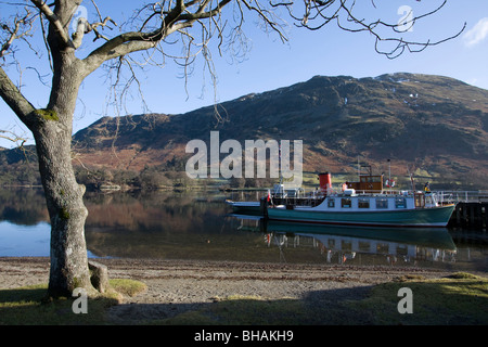 glenridding pier lady of the lake ullswater lake district national park cumbria england uk gb - Stock Photo