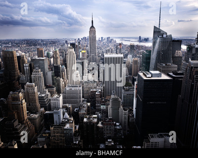 Manhattan Skyline New York City - Stock Photo