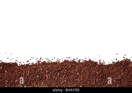 coffee grounds isolated on a white background - Stock Photo