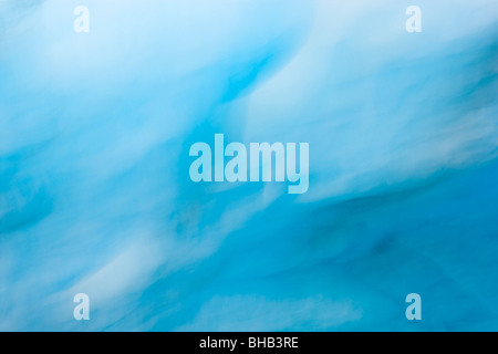 Ice cave detail, abstract, Shoup glacier, Shoup Bay State Marine Park, Prince William Sound, Southcentral Alaska, - Stock Photo