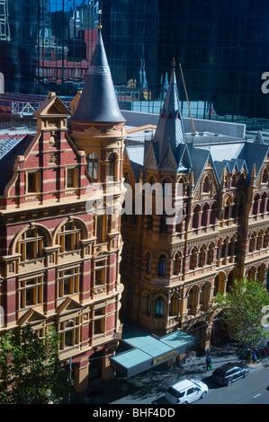 The Intercontinental Rialto Hotel,  on Collins Street, Melbourne Australia - Stock Photo