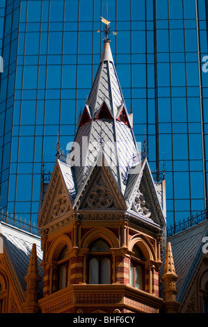 Detail of the The Intercontinental Rialto Hotel building on Collins Street in Melbourne Australia - Stock Photo