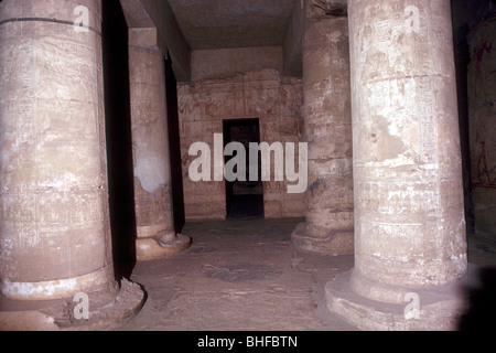 Interior of the Temple of Sethos I (Seti I), Abydos, Egypt, 19th Dynasty, c1280 BC. - Stock Photo