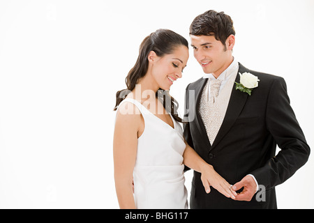 Portrait of a bride and groom - Stock Photo