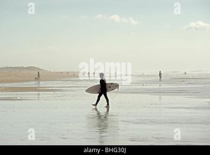 surfer at el palmar beach, cadiz, andalucia, spain - Stock Photo