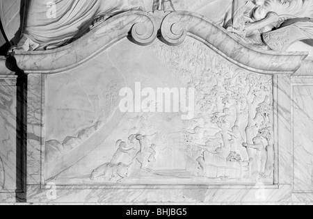 'The Ambush'. Monument to Cornet Geary, Great Bookham, Surrey. Artist: Laurence Goldman - Stock Photo