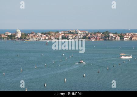 lido di venezia view of san giorgio belltower, venezia (venice), unesco, veneto, italy - Stock Photo