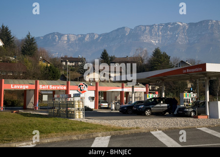 French service station petrol pumps stock photo royalty free image 23760497 alamy - Location garage aix les bains ...
