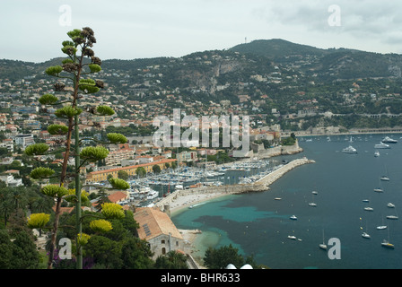 View of Villefranche-Sur-Mer, Cote d'Azur, France - Stockfoto