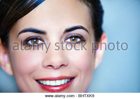 Woman after make up session - Stock Photo