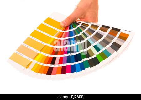 Colour card on isolated background. Shot in studio. - Stock Photo