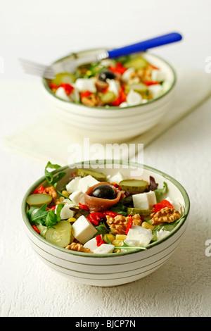 Mozzarella salad. Recipe available. - Stockfoto