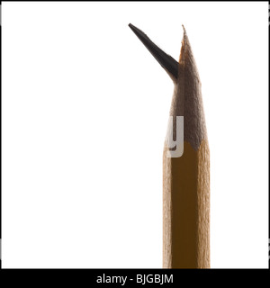 pencil with a broken lead tip - Stock Photo