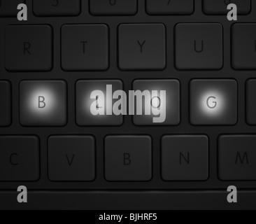 Keys on keyboard - Stock Photo