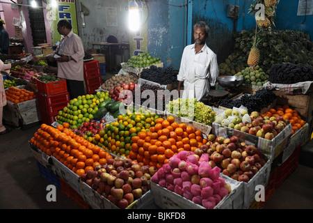 Chalai market, Trivandrum, Thiruvananthapuram, Kerala state, India, Asia - Stock Photo