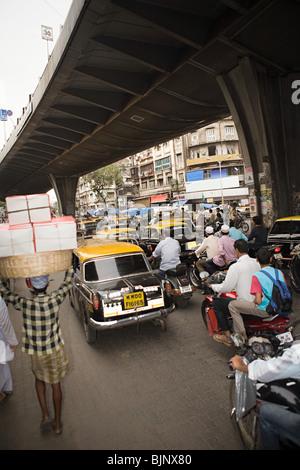 Traffic in mumbai - Stock Photo