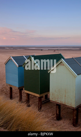 Beach huts at Wells next the Sea, Norfolk, England - Stock Photo