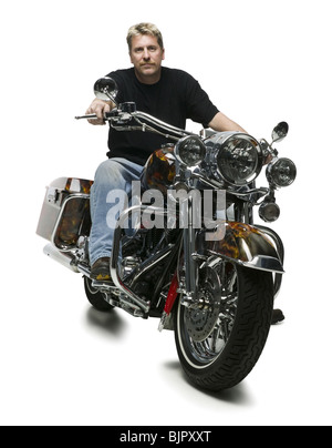 Man on motorcycle - Stock Photo