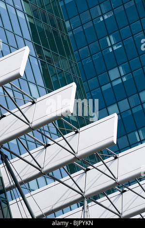 Abstract of office buildings in the Amsterdam Zuid area of the Dutch capital city - Stock Photo