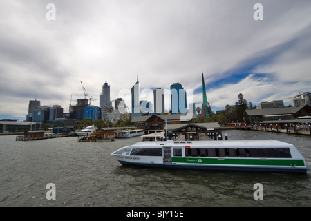 barrack street jetty and the swan bell tower in perth. Black Bedroom Furniture Sets. Home Design Ideas