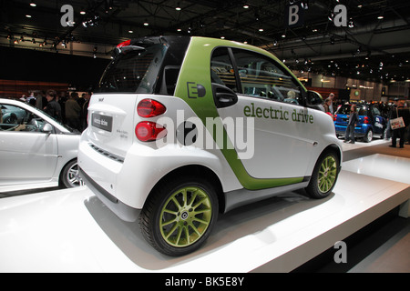 mercedes smart electric drive at the auto mobil international ami stock photo royalty free. Black Bedroom Furniture Sets. Home Design Ideas