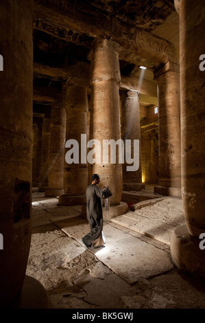 Interior of the Temple of Seti I, Abydos, Egypt, North Africa, Africa - Stock Photo