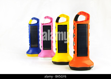 colourful 'BoGo Light ' Solar Paneled torches - Stock Photo