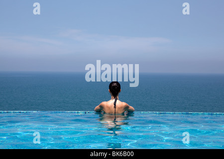Woman In A Swimming Pool By Indian Ocean Tsitsikamma National Park Stock Photo Royalty Free
