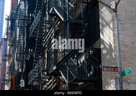 Cortlandt Alley in Tribeca, Manahattan, New York - Stock Photo
