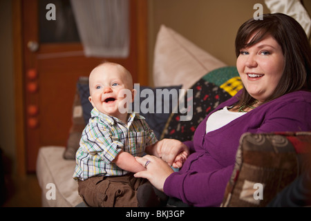 Mother With Her Baby Boy - Stock Photo