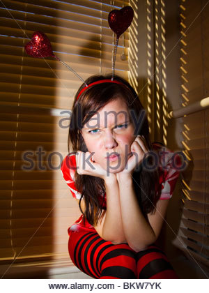 Angry girl - Stockfoto