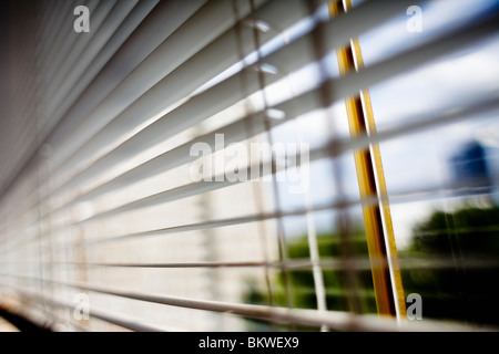 Closeup on ventian blind - Stock Photo