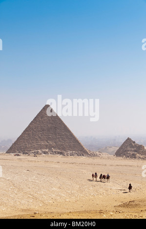 Pyramids, Giza, UNESCO World Heritage Site, near Cairo, Egypt, North Africa, Africa - Stock Photo