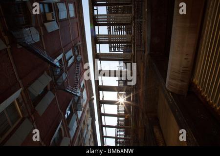 Cortlandt Alley, Tribeca, New York City - Stock Photo