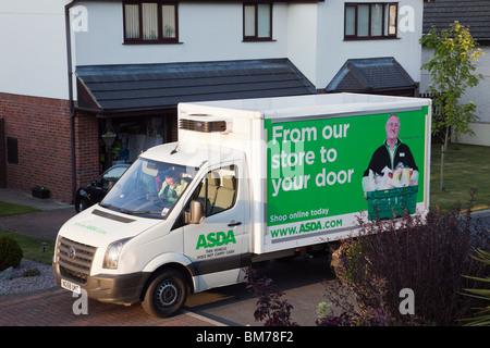 Asda Home Delivery Asda Home Shopping Van Stock Photo