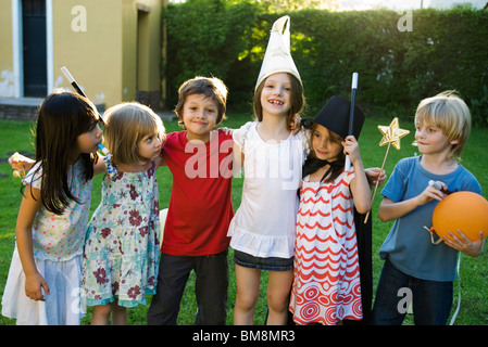 Children together for party, group photo - Stock Photo
