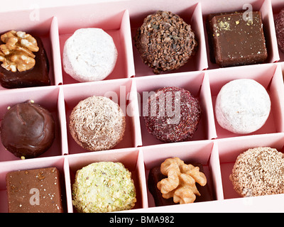 Chocolates in box - Stock Photo