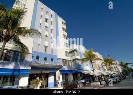 The Park Central Hotel on Ocean Drive in South Beach, Miami Beach, Florida, USA - Stock Photo