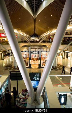 KLIA Kuala Lumpur International Airport departures - Stock Photo