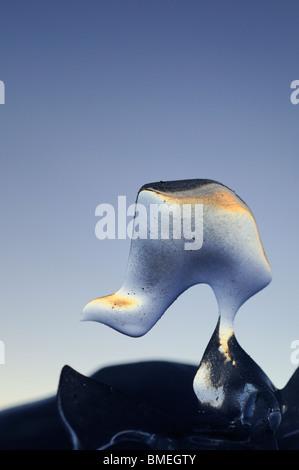 Scandinavia, Sweden, Harjedalen, Ice formation close-up - Stock Photo