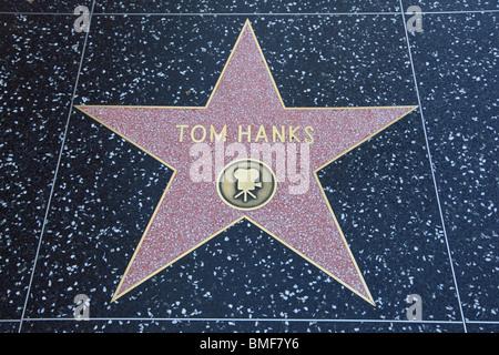 hollywood walk of fame tom hank s stock photo royalty