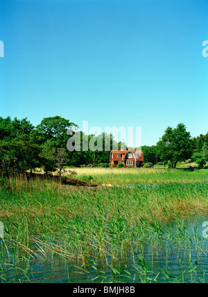 View of summer house - Stock Photo