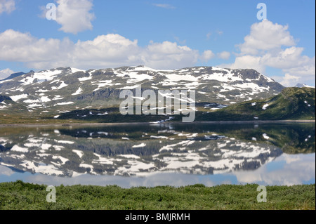 Mountain scenery in the summer - Stock Photo