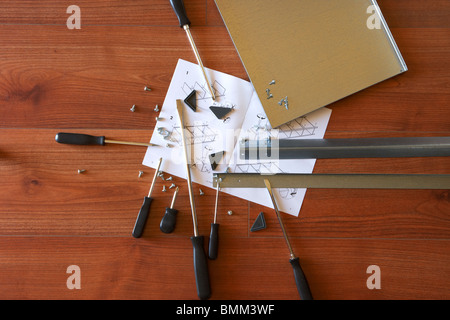 Flat pack furniture assembly instructions stock photo royalty free image 39807941 alamy - Diy tips assembling flat pack furniture ...