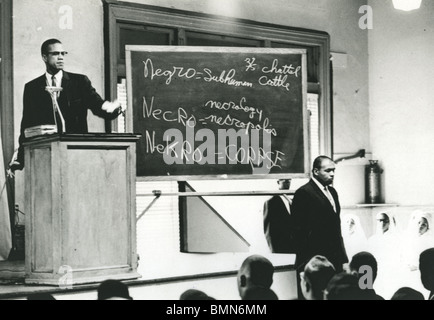 MALCOLM X  (1925-1965) African-American minister and human rights activist as head of the self-styled Nation of - Stock Photo