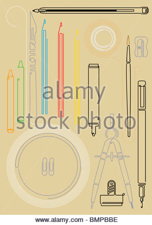 Drawing tools - Stock Photo