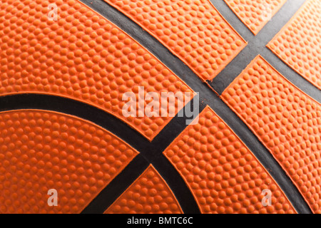Orange Basketball close up shot - Stock Photo