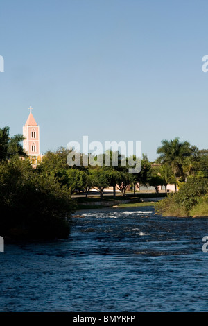 Correntes River, Correntina, Bahia, Brazil - Stock Photo