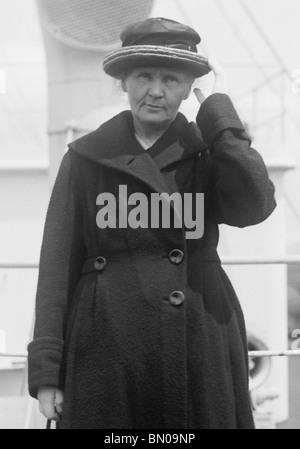 Vintage Foto (1921), Physiker und Chemiker Marie Curie (1867-1934) - Pionier in Radioaktivität + Gewinner der zwei - Stockfoto