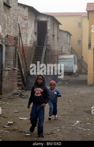 young boys playing, Langa township, Cape Town - Stock Photo